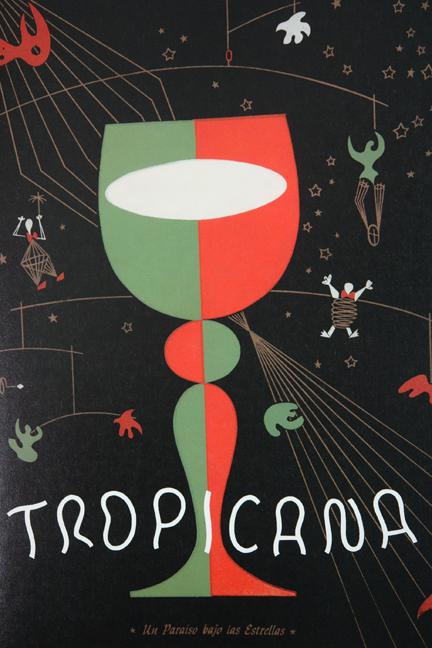 'Tropicana' menu