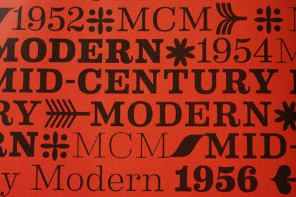 Mid-Century Modern text