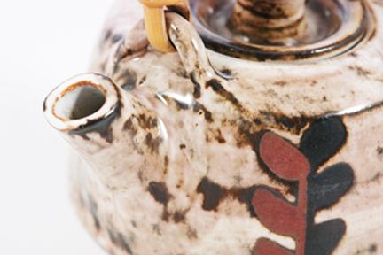 Detail of vintage Briglin teapot