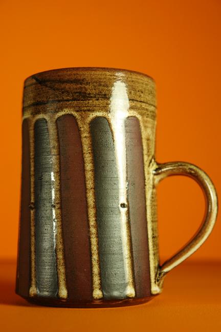 Large vintage pottery mug