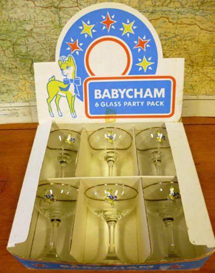 Babycham Champagne Glasses
